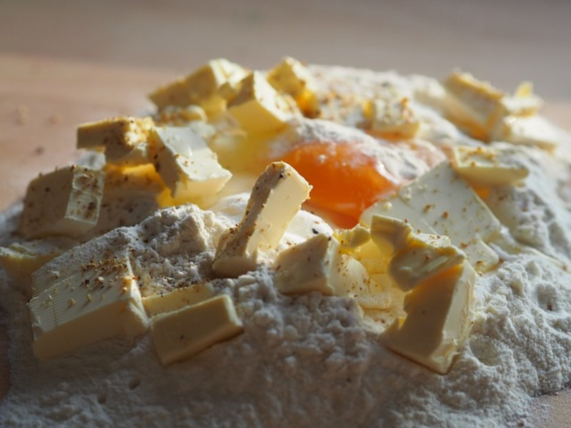 butter, flour and egg  - Sugar Cookie In A Minute