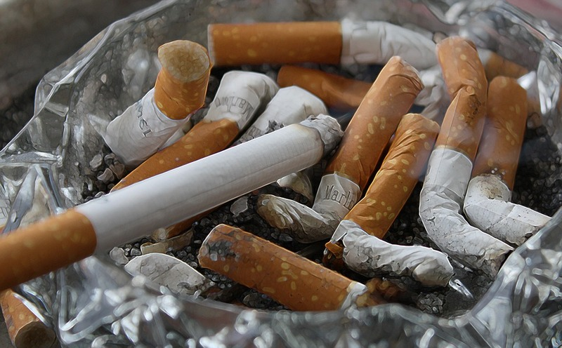 cigarettes in a ashtray