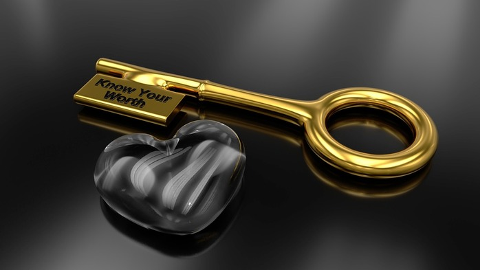 gold key and silver heart