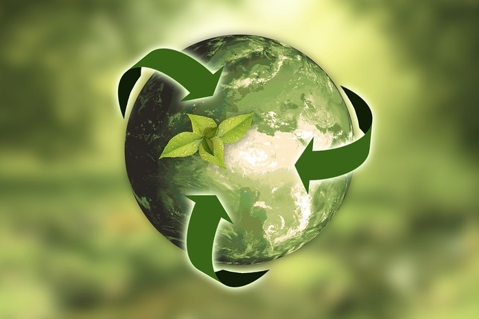 Green recycle emblem